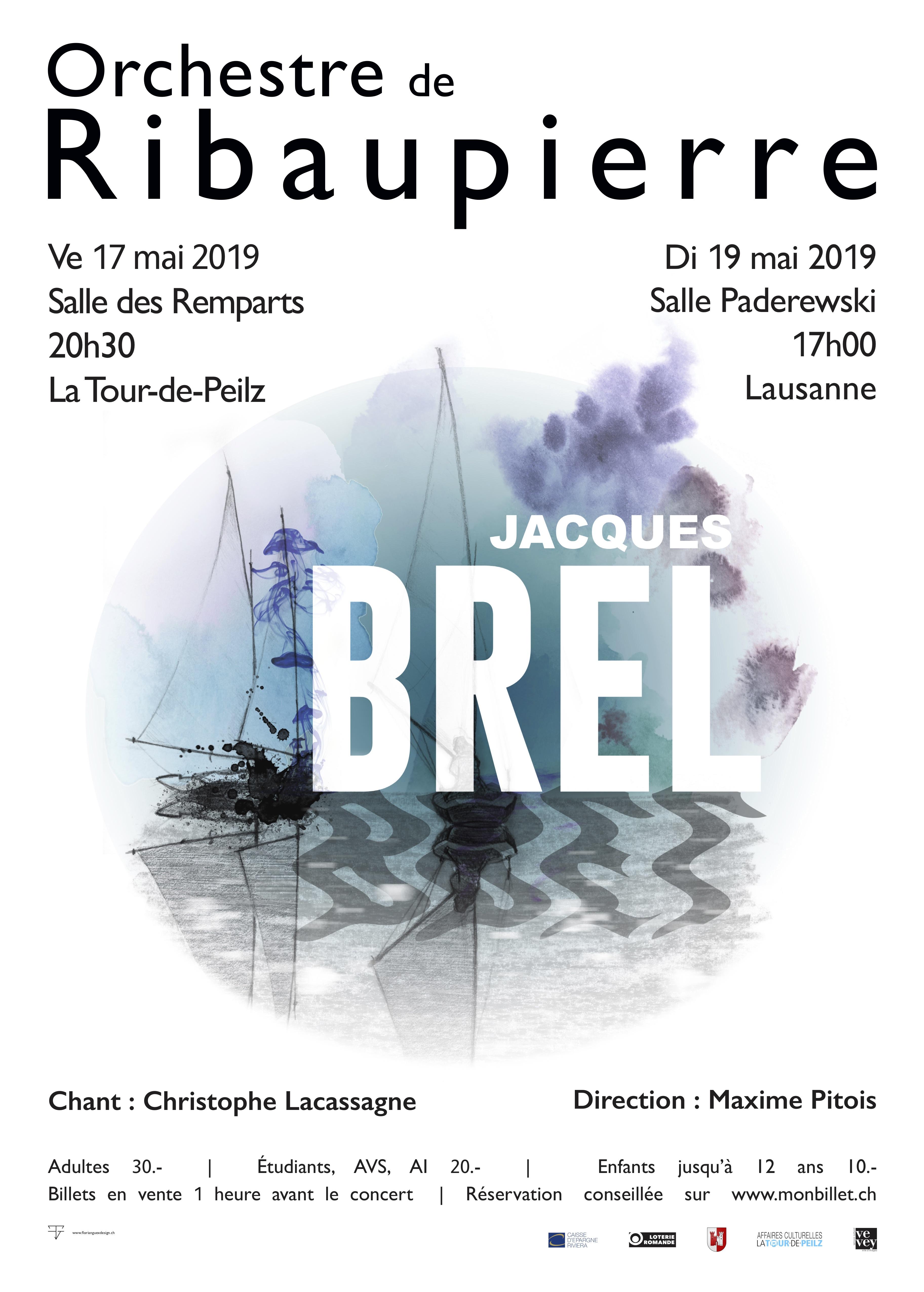 Orchestre de Ribaupierre - Jacques Brel